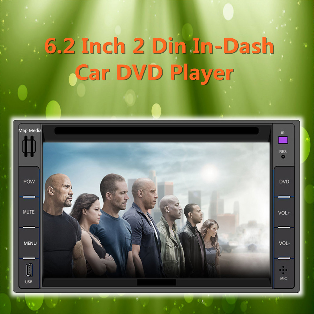 "6.2"" Touch Screen Universal Car Stereo Video 2 din Windows CE 6.0 DVD Player FM AM Bluetooth USB SD TV IR Steering Wheel Control(China (Mainland))"