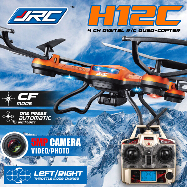 5.0MP HD Camera Optional! JJRC H12C Rc helicopter 2.4G 4CH Headless Mode One Key Auto Return RC Quadcopter drone with Camera(China (Mainland))