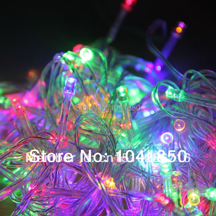Free shipping Yellow/Blue/Green/White/Red 10M 100 LED Festival Xmas Light for Wedding Party US Plug without ending connector(China (Mainland))