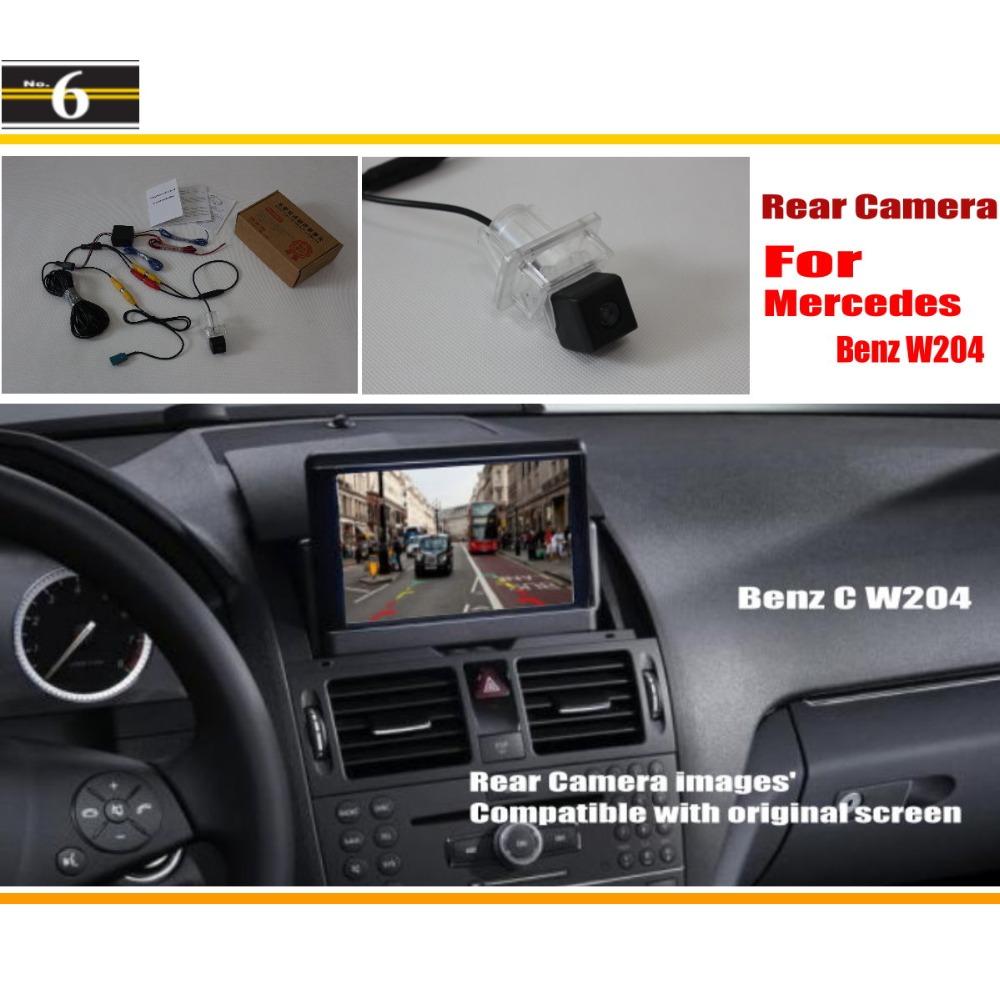 Car Rear View Camera Sets Mercedes Benz C Class W204 2007~2014 / Back Reverse RCA & Original Screen  -  Peng MaMa Store store