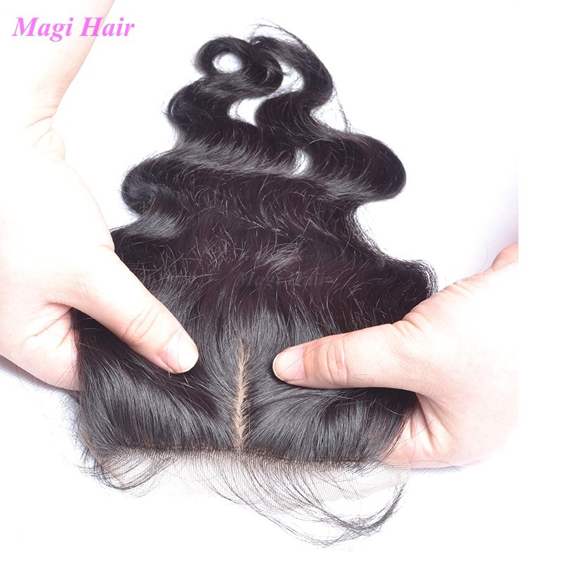Natural Hairline 7A Malaysian Body Wave Silk Base Closure Silky Bleach Knots Silk Base Closure With