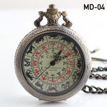 Vintage Noble Bronze Skeleton Mechanical Pocket Watch Steampunk Hollow Eagel mechanical pocket DROP SHIPPING