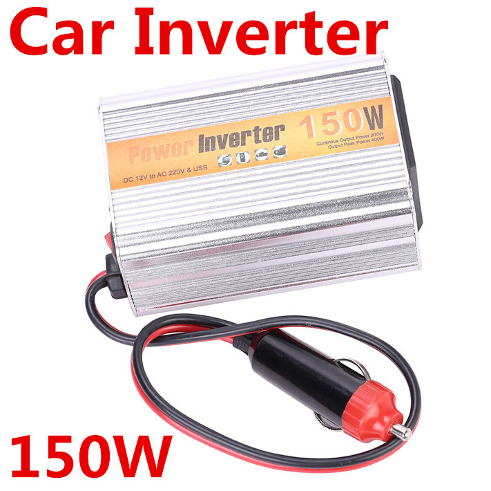 Free Shipping NEW 150W Car Inverter DC 12V to AC 220V Power Adapter + USB 5v Motorcycle car power inverter parking Car Styling(China (Mainland))