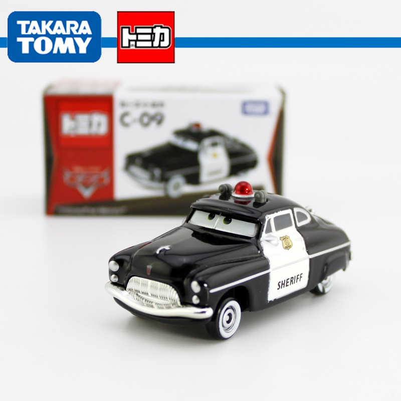 TOMY TOMICA 1/55 Scale Pixar Cars 2 Race Team Toys Sheriff policeCar c-09 Diecast Metal Pixar Car Toy For Kids New In Box(China (Mainland))