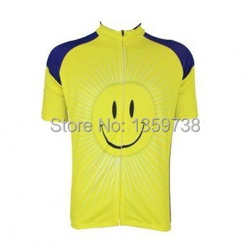 Stepful Sports Short Smiley Face Unisex Retro Art Poster Classic Cycling Jersey UK STOCK FAST SHIPPIN(China (Mainland))