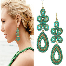New Design Brand Jewelry Fashion Elegant Women Bohemia Earrings For Women Factory Wholesale(China (Mainland))