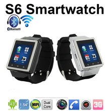 ZGPAX S6 Android Smart Watch Phone MTK6577 Dual Core 1.5 Inch Capacitive Screen 2.0MP Camera WIFI GPS smartwatch free shipping