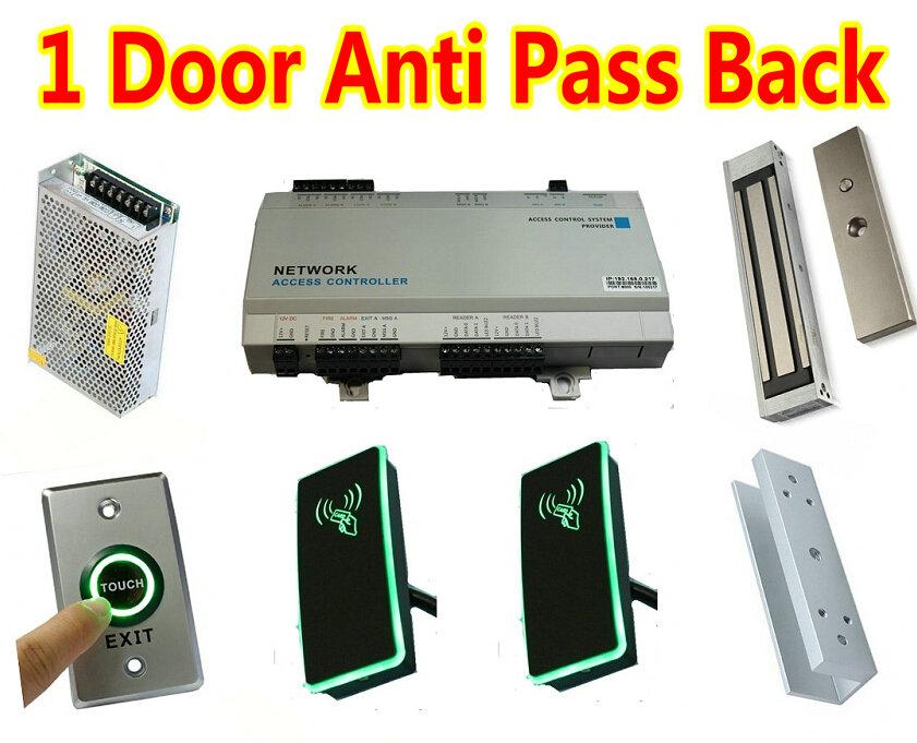 Anti pass back 1 Door Glass Web Door Access Controller Panel Box + Normal Power+Magnetic Lock+U Bracket +Card Wiegand26/34Reader(China (Mainland))