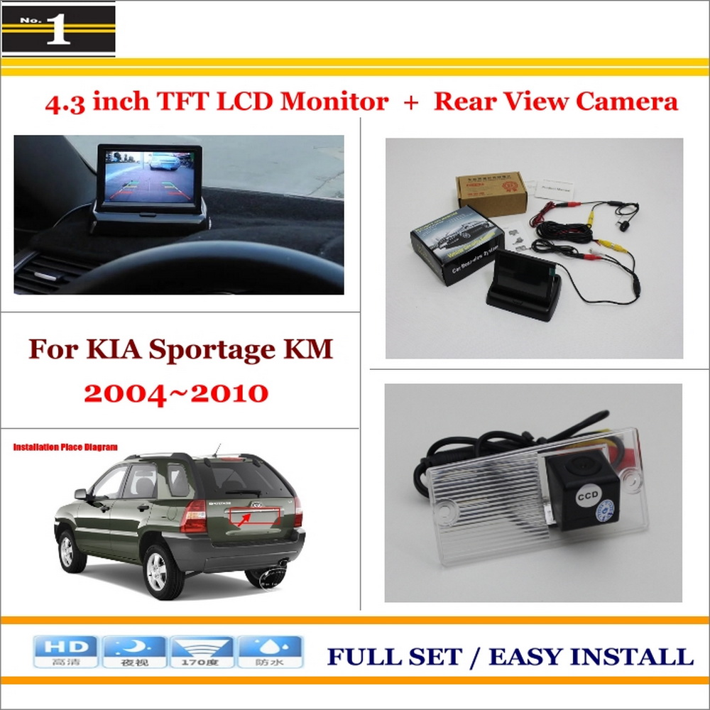 Auto Back UP Reverse Camera + 4.3 Color LCD Monitor = 2 in 1 Rearview Parking System - For KIA Sportage KM 2004~2010<br><br>Aliexpress