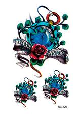 Rocooart RC-045 Fashion Temporary Tattoo Stickers Body Art Galaxy in Triangle Fake Flash Taty Tattoo Water Transfer tatuaje