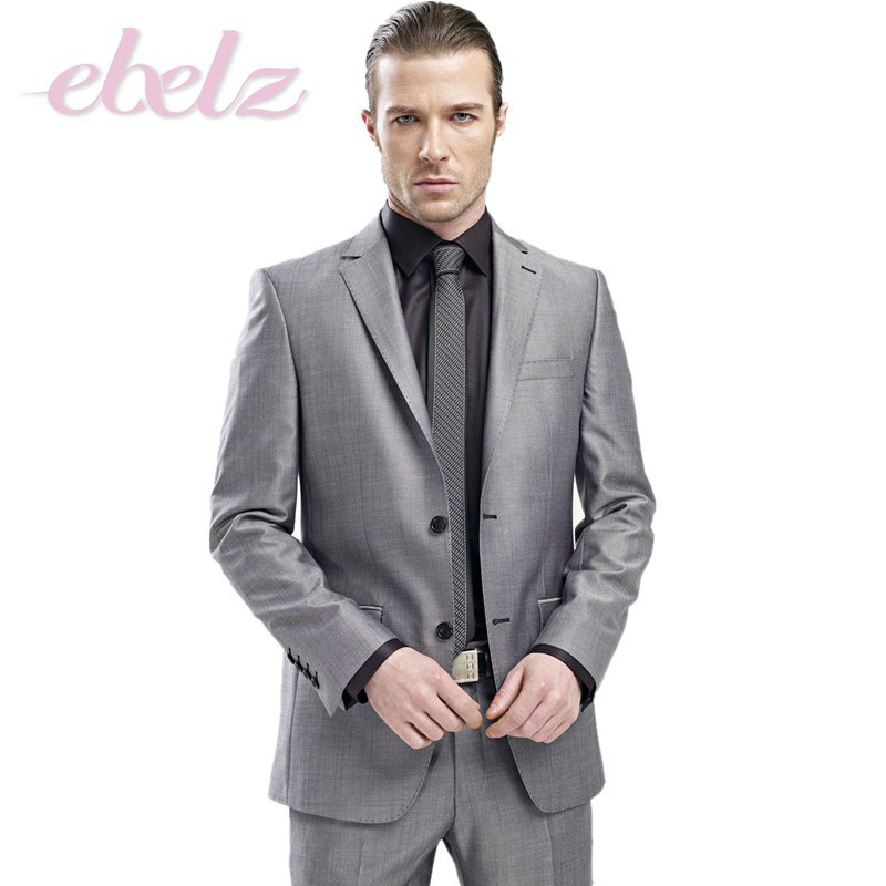 Mens suits for weddings shiny gray groom tuxedos best man for Finest mens dress shirts