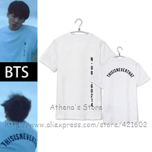 MEN'S TOPS KPOP BTS 100% Cotton T-shirt Bangtan Boys Black White Cool Letter Slogan T shirt Men's Tops Korean Style fashion Tee
