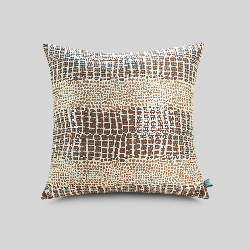 2015 new fashion Printing pillowcase sequins embroidery cushion covers Home Decor Decorative Cushion Cover(China (Mainland))