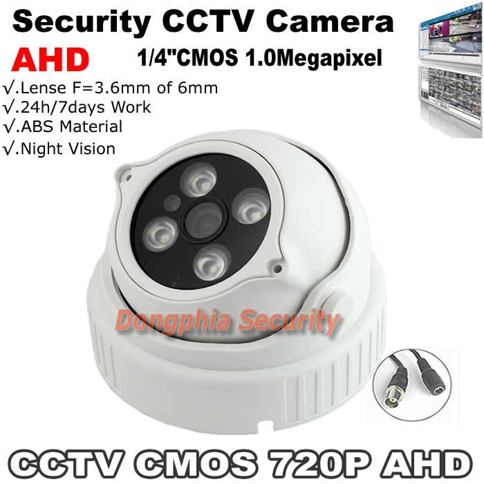 Top seller ! CCTV Factory 1/4CMOS 1.0Megapixel 720P Night Vision AHD Camera CCTV camera with 4units IR Leds Built-in IR Cut  <br><br>Aliexpress