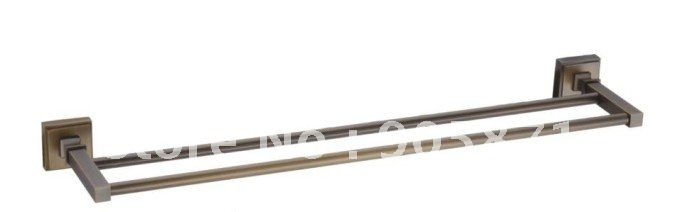 Free shipping-Antique brass Double Towel Bar-Bathroom Accessories-wholesale-65009
