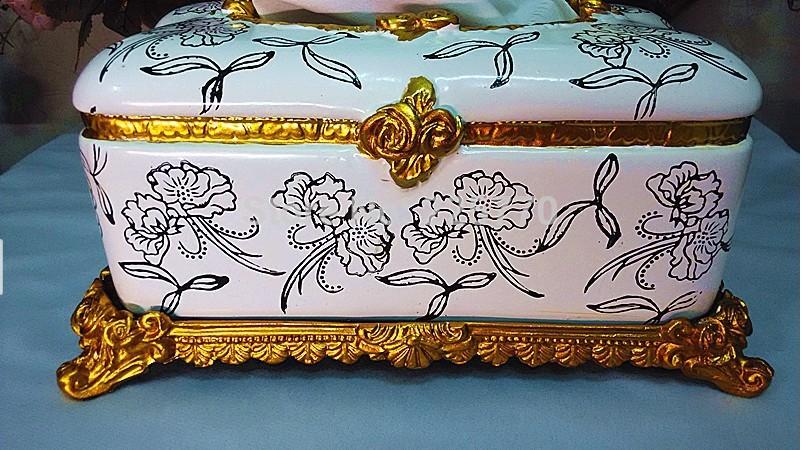 Resin European High-grade Tissue holder Home Decoration Napkin Box Ancient Creative Fashion Paper Holder(China (Mainland))