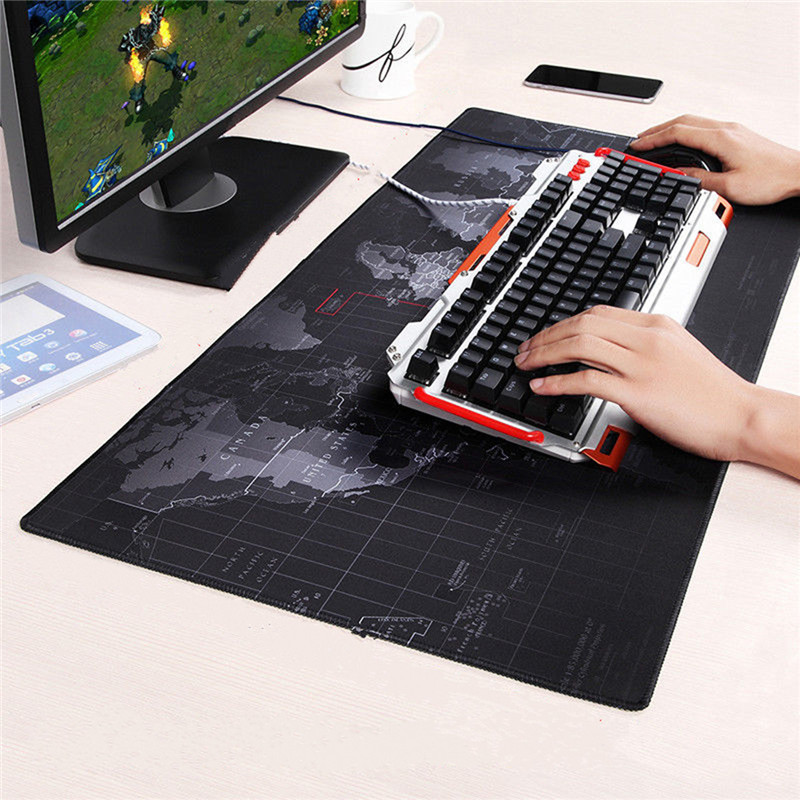 World Map Mouse Pad 700x300mm/800x300mm/900x400mm Large Size Speed Keyboard Mat Computer Gaming Mousepad Locking Edge Table Mat(China (Mainland))