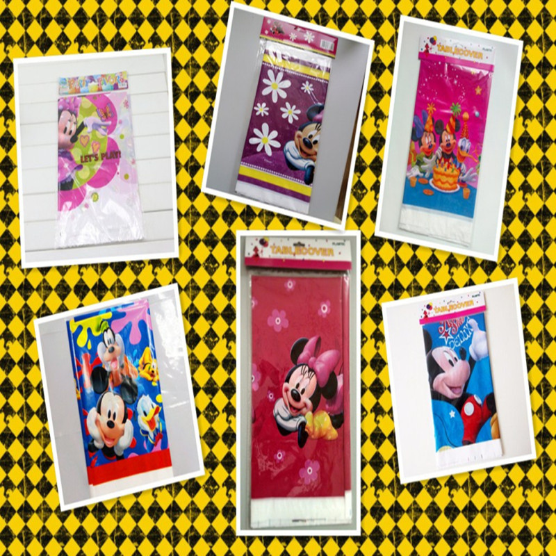 108cm*180cm minnie mouse party supplies tablecloth favor kids girls birthday tablecloths party supplies table cover decoration 0(China (Mainland))