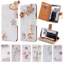 "Wallet Flip PU Leather Diamond Eiffel Mirror Bowknot Smart Stand Case For Samsung Galaxy SV S5 I9600 S 5 5.1"" Cell Phone Cover(China (Mainland))"