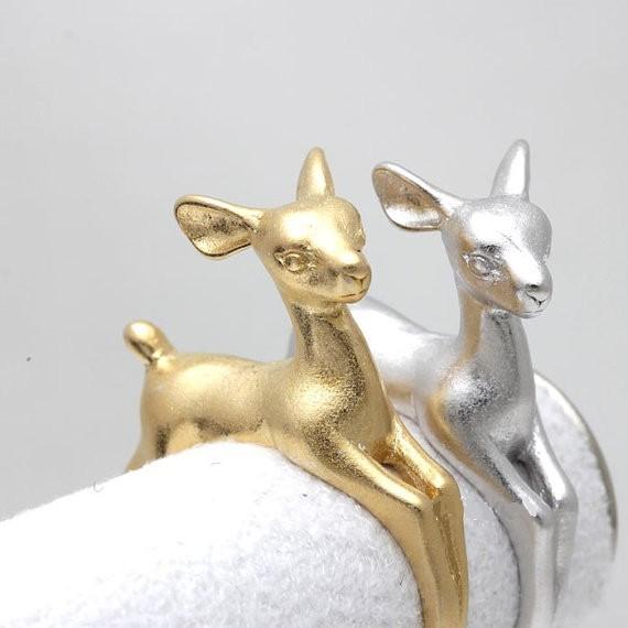 Гаджет  1pc Adjustable Bambee ring Animal Deer Ring in Gold Jewelry Wrap Retro Ring Fashion Summer Ring For men gift 2015 R335 None Ювелирные изделия и часы
