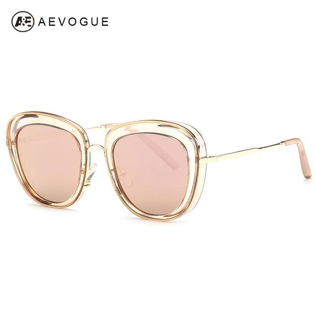 Aevogue ретро очки женщин летний стиль солнцезащитные очки марка люнет De Soleil óculos De Sol Feminino UV400 AE0277