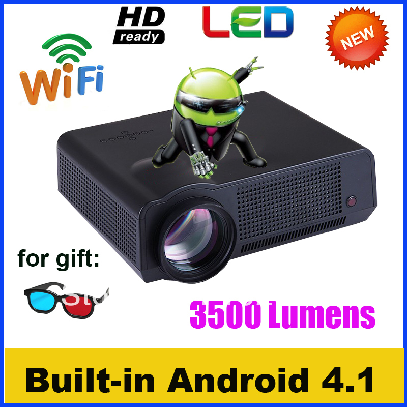 Hot sale!! home cinema wifi projector 3500 lumens 3d Android wifi projector full hd compatible TV system NTSC, Secam, PAL(China (Mainland))