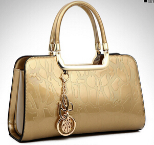 NO.1 2015 Designer Genuine Leather Handbags Famous Brand Messenger Women Leather Bags Clutch Tote Patent Leather Handbags Bolsas(China (Mainland))