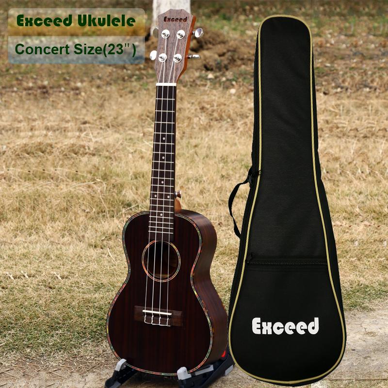 23 inch Concert Ukulele handcraft made of Rosewood 4String Guitar ukelele China Guitarra acoustic Musical Instrument free ship(China (Mainland))