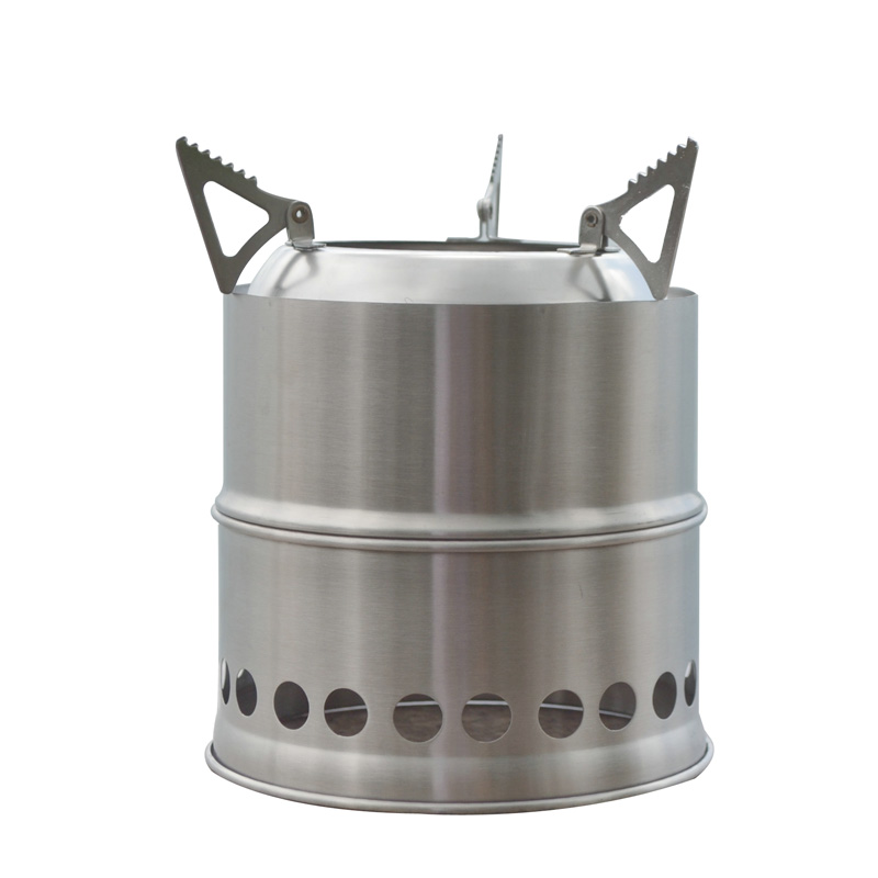 WOS hot sell stainless steel portable mini wood burning <font><b>outdoor</b></font> <font><b>stove</b></font>