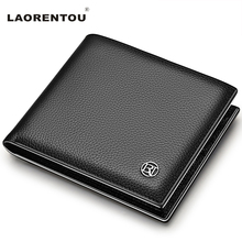 Buy Laorentou 100% Genuine Leather Wallet Men Short Wallet Vintage Cow Leather Casual Men Wallet Purse Standard Brand Wallets N52 for $16.32 in AliExpress store
