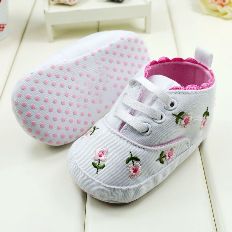 Baby Girl Flower Shoes Spring/Autumn Princess First Walkers Footwear Toddler Soft Sole - Fashion 2016 Shopping store