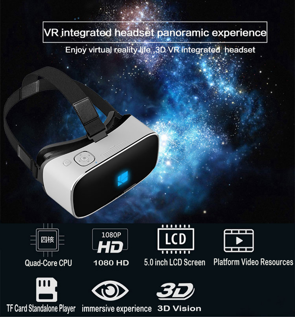 Japan Lens Virtual Reality 3D VR All-in-one Glasses BOX Head Mount Headset Game Movie Android Bluetooth Vrbox Binocular Helmet