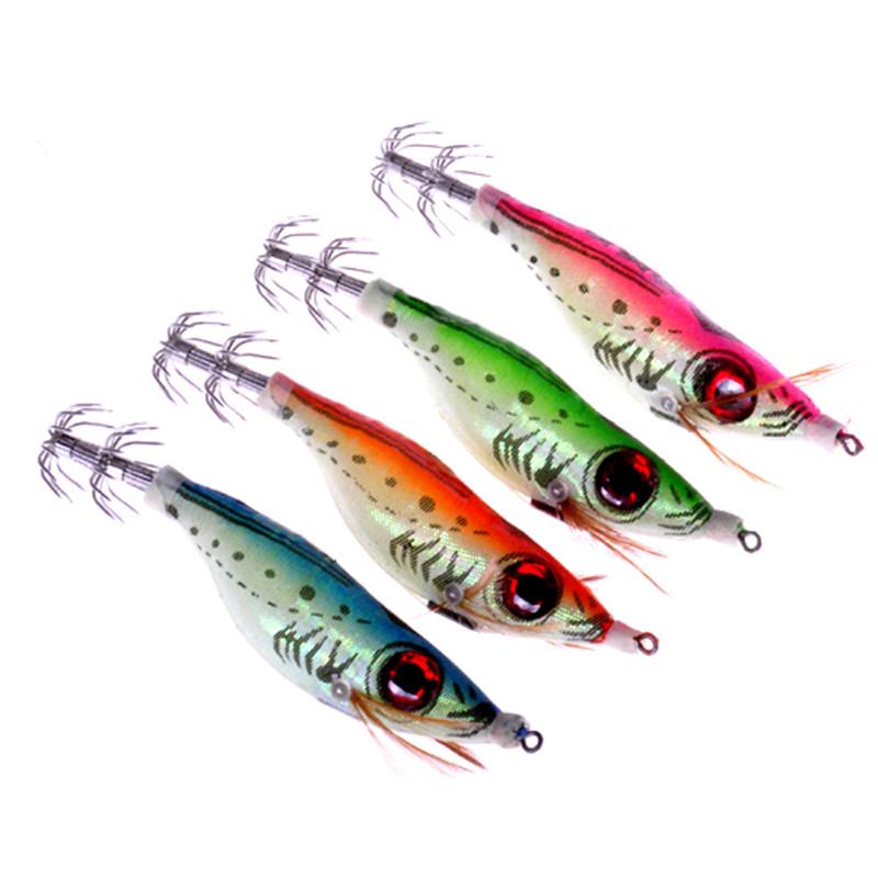 Night fishing lures squid jig hooks wood big eye for Best night fishing lures
