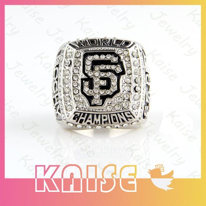Replica Cheap China Manufacturer 2012 San Francisco Giants World Baseball Championship Ring Men's Silver Rings(China (Mainland))