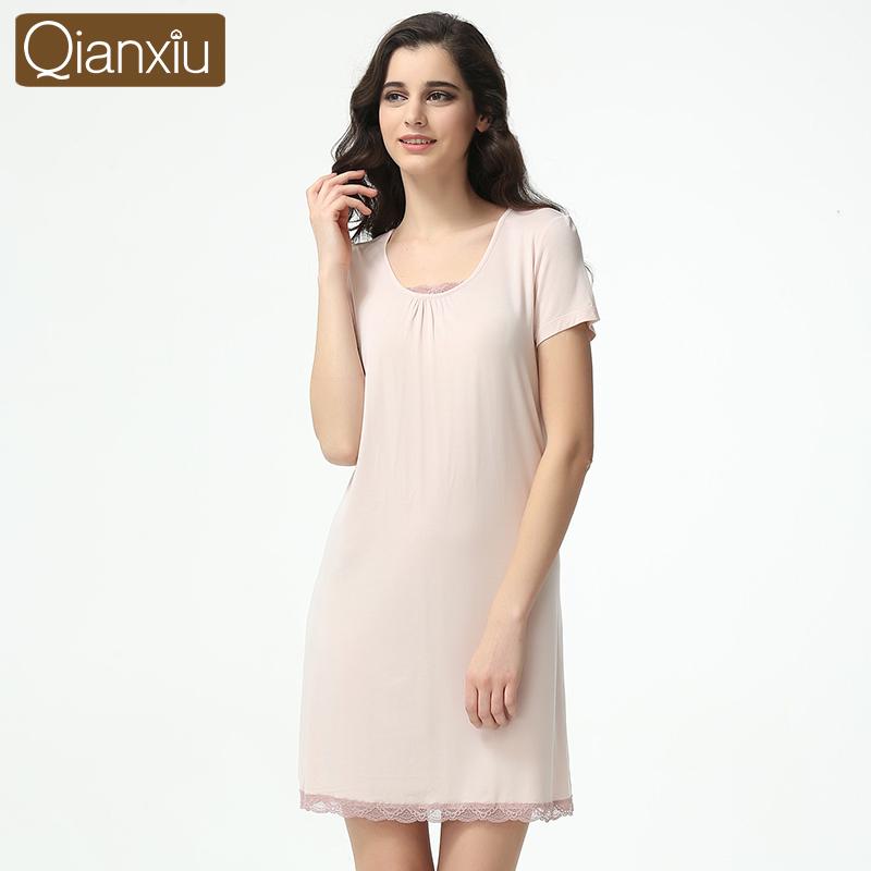 Qianxiu Lace Nightdress For girl 2016 New Arrival Summer Homewear Casual Nightgown women(China (Mainland))