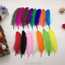 Buy Free shipping!!100PCS DIY Feather Dyed Single 12-18cm Goose Feather #15Color for $3.17 in AliExpress store