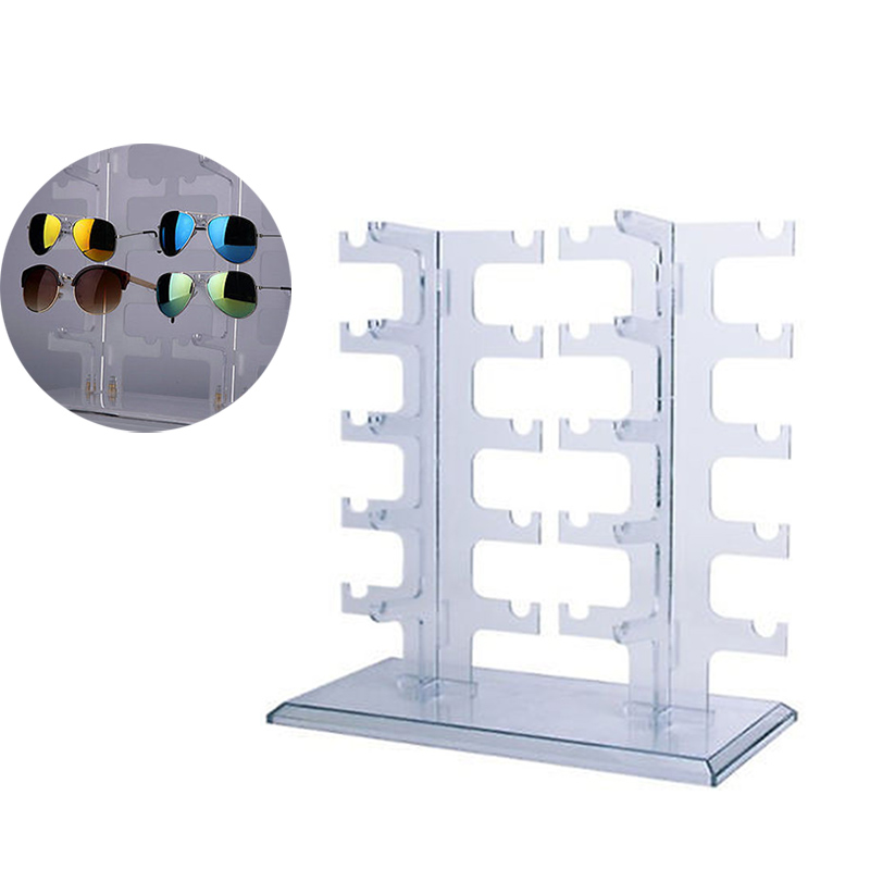 2 Row 10 Pairs Sunglasses Glasses Rack Holder Frame ...