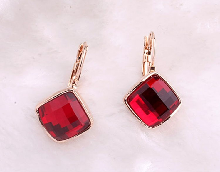Christmas Gift! ,18k Real gold plated square Austrian crystal hot Drop Earring Brand Design! - Shenzhen Sun Jewelry International Co.,Ltd store