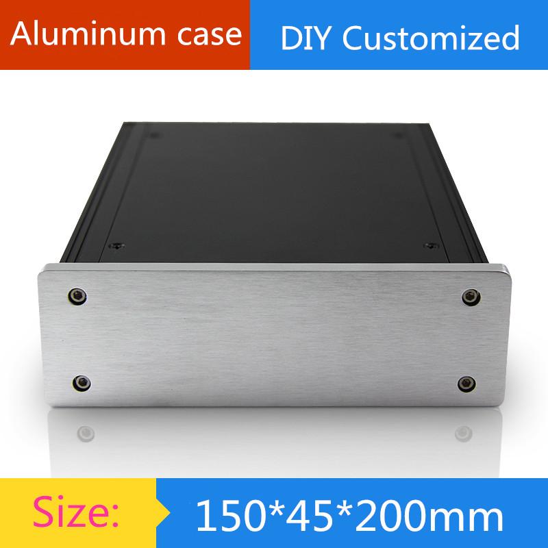 Mini aluminum amplifier chassis / DAC / HTPC / HIFI tube amp Chassis / AMP Enclosure / case / DIY box (150*45*200mm)(China (Mainland))