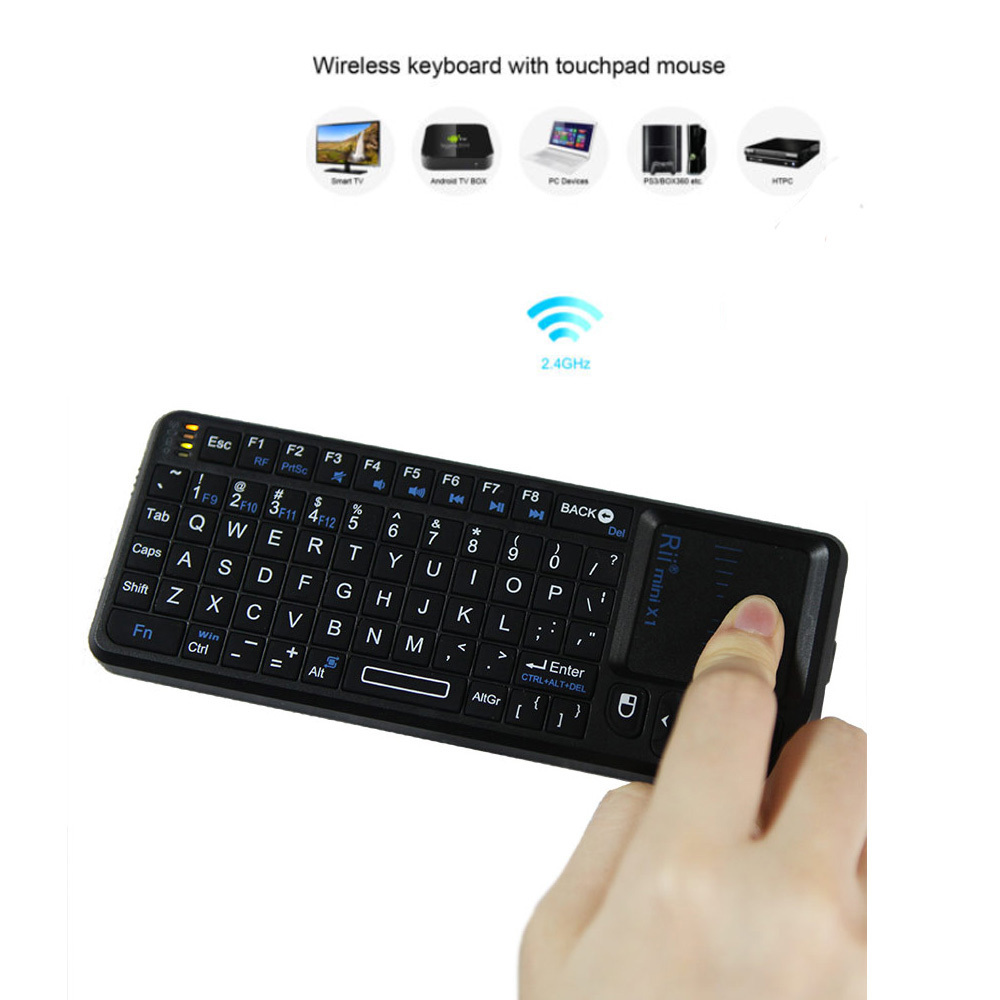 Rii Mini Handheld 2.4G Wireless Keyboard Touchpad Mouse Gaming Keyboard for Laptop PC Notebook Smart TV Android TV BOX(China (Mainland))