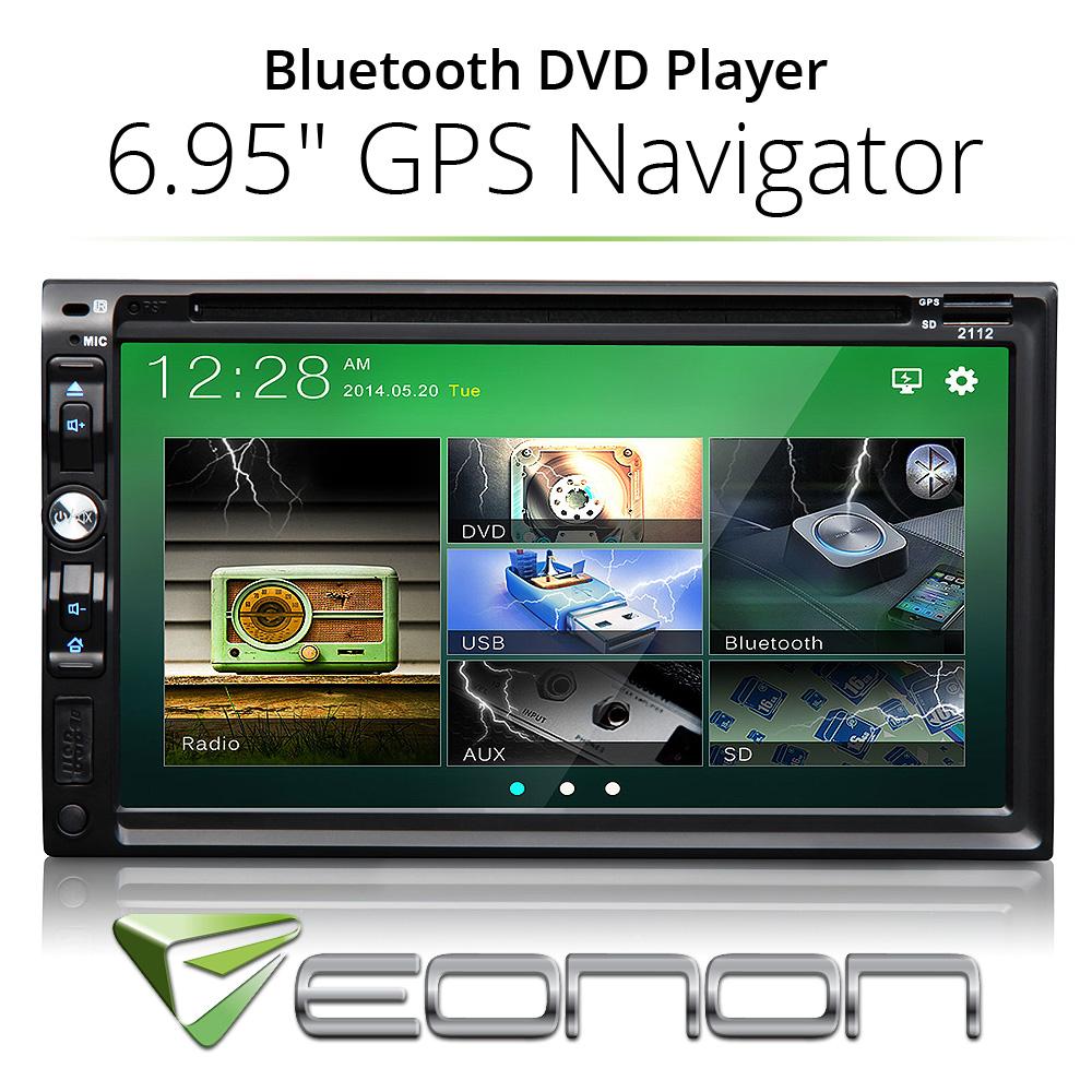 GPS Navigation HD Double 2 DIN Car Stereo DVD Player Bluetooth MP3 FM Radio USB(China (Mainland))