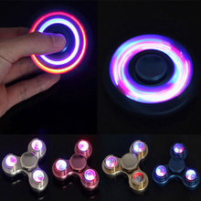 Buy LED Light Fidget Spinner Finger Metal EDC Hand Spinner Tri Kids Autism ADHD 5 Styles Anxiety Stress Relief Focus Handspinner for $8.98 in AliExpress store