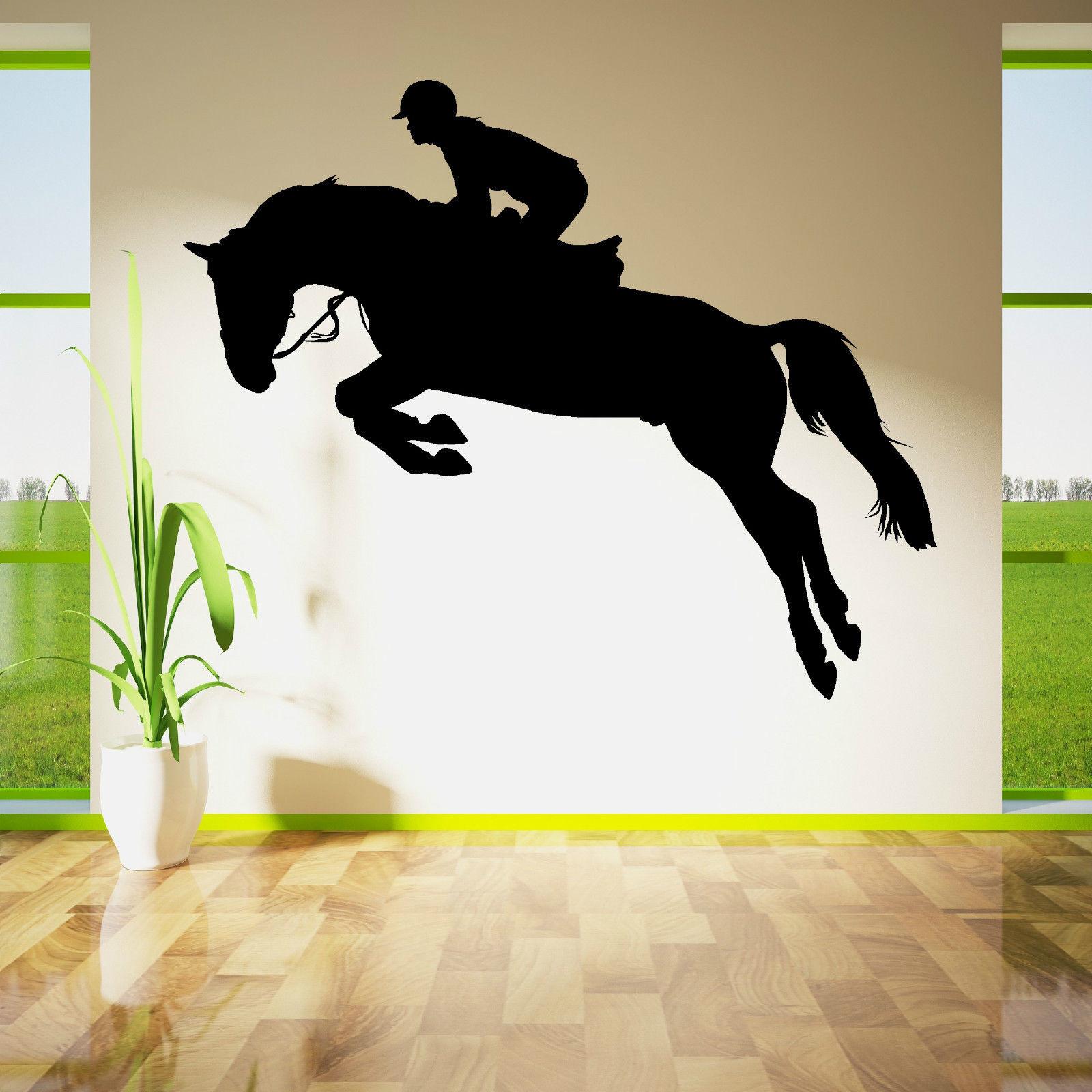 W209 HORSE JUMPING SHOW HORSE RIDER JOCKEY Vinyl wall art sticker decal(China (Mainland))