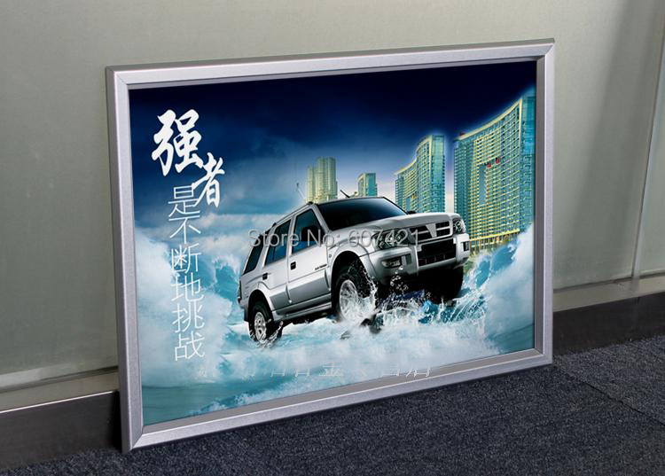 Counter and Wall mounted Silver Aluminium Clip Poster Frames ,Snap Frames For A4 Paper(China (Mainland))