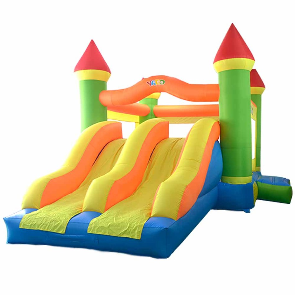YARD Large Bouncy Castle Double Slide Outdoor Inflatable Bouncers Big Trampoline for Kids Parties Special Offer for Africa(China (Mainland))