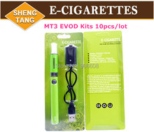 E-Cigarettes EVOD Blister Kits EVOD MT3 Clearomizer EVOD Battery  Mt3 Atomizer for E Cigarette Cig Electronic Cigarette