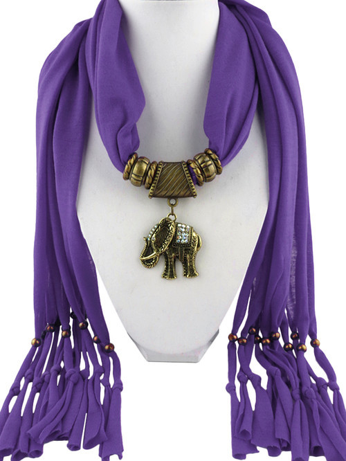 2015 Special Design 7 Colors Fashion Women Alloy Elephant Pendant Scarves Jewely Charm Necklace Scarf - Shenzhen Sundah Tech Co., Ltd.(Craft & Gift Dept. store)