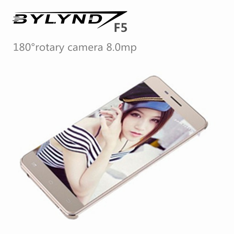 "rotary camera 8.0mp BYLYND F5 smartphones mtk6752 cell android 5.1 octa core 2G ram 5.0"" 4G LTE FDD unlocked China mobile phones(China (Mainland))"