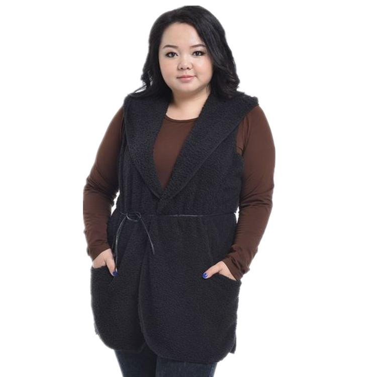 Plus Size Women Clothing Fashion 2014 Women's Lagre Spring Autumn Fleece Vest Coat Jackets 904 - Marco General Trading Company store