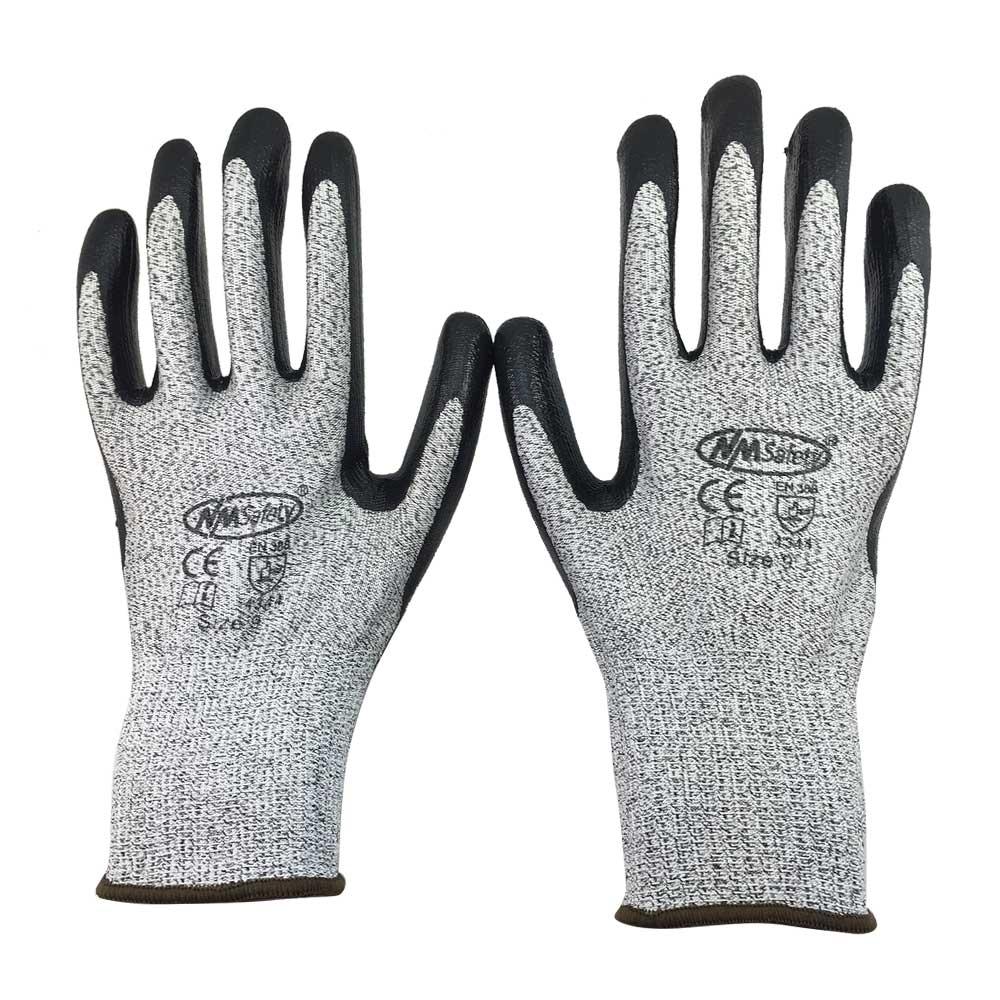 NMSafety Cut Resistant Work Glove Glass Handing Butcher Labor Glove HPPE Anti Cut Safety Glove(China (Mainland))